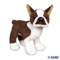 "Webkinz Brown Boston Terrier 8.5"" Plush"