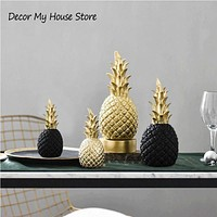 Original Nordic Modern Pineapple Fruits Living Room Wine Cabinet Window Desktop Home Decoration Furnishing Prop Accessories