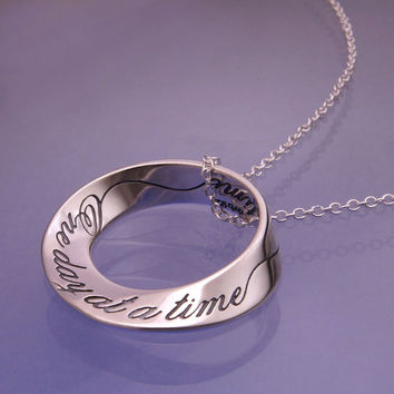 One Day At A Time Mobius Sterling Silver