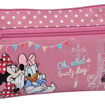 Disney Minnie Mouse & Daisy School Flat Pencil/Beauty Case