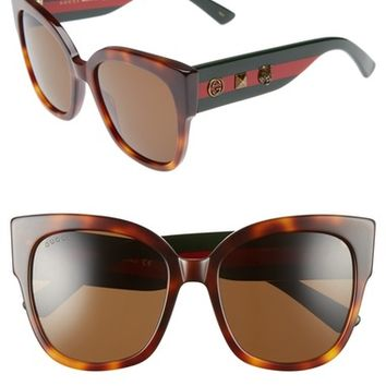 Gucci 55mm Butterfly Sunglasses | Nordstrom