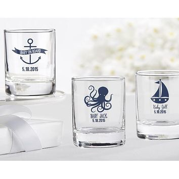 Personalized Shot Glass/Votive Holder - Kate's Nautical Baby Shower Collection