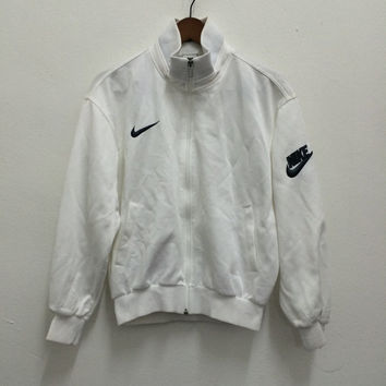 mens vintage jacket, 1980's black and white Nike logo