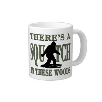 Bobo - There's a SQUATCH in these Woods Extra Large Mugs