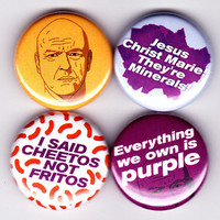 "Hank Schrader - Breaking Bad Badge Set! - ""Cheetos not Fritos""  Dean Norris walter white purple minerals -  original design"