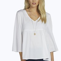 Amy Low Neck Woven Smock Top
