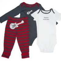 Carters Baby Boys' Grey Puppy 3 Piece Onsie Pant Set
