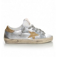 Golden Goose Super Star Silver Gold Sneakers