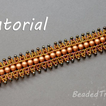 Bead Dance  - beadweaving bracelet tutorial / Bead pattern / Bracelet pattern / Beading tutorial / Seed bead pattern  / TUTORIAL ONLY