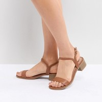 New Look Low Block Heel Sandal at asos.com