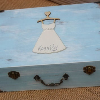 Bridesmaid Gift Will you be my Maid of Honor Memory Keepsake Box Love Letter Rustic Wedding Decor Custom (You Pick Color)