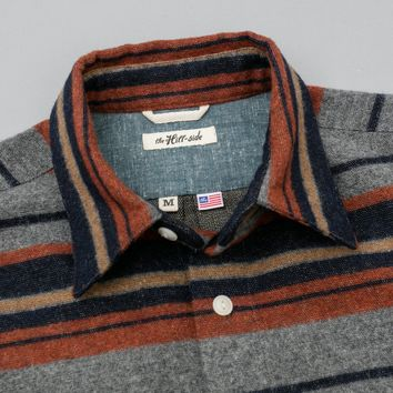 Coupe Shirt, Wool/Cotton Blanket Stripe