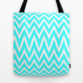 Mint zig Zag Tote Bag by  Alexia Miles photography
