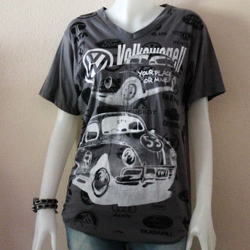 Volkswagel Or Volkswagen,V Neck,Unisex T Shirt.
