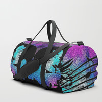 color of music duffle bag for her Duffle Bag by ariezdesignz
