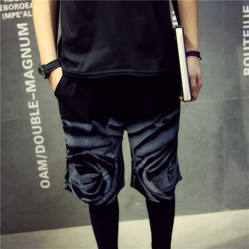 Summer Shorts Men Korean Beach Pants Floral Sportswear [6541168003]