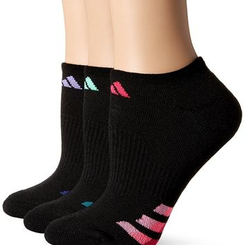 adidas Women's Cushioned No Show Socks Pack of 3