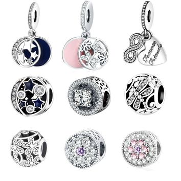 Pandora Charm Bracelet Original 925 Silver Charms Bead Daisy Openwork Charm With Clear Zircon Jewelry Berloque 2016 Winter