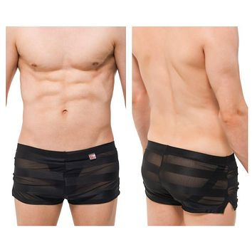 PetitQ PQ180906 Jock Athletic Shorts Color Black