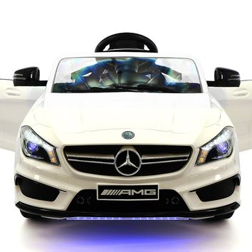 Mercedes CLA45 12V Kids Ride-On Car with R/C Parental Remote | White