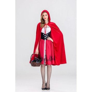 Costumes for Women Sexy Cosplay Little Red Riding Hood Fantasy Game Uniforms Fancy Dress S M L XL
