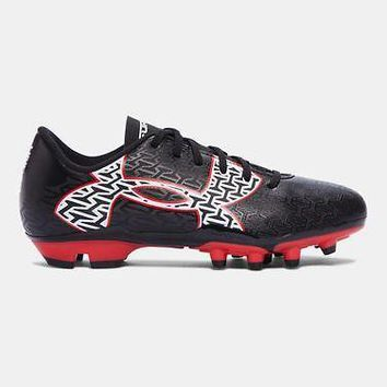 Under Armour UA ClutchFit Force 2.0 Boys Soccer Cleats Shoes Youth Black/Red