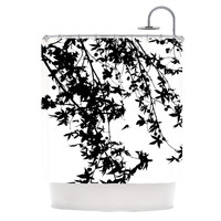 "Ingrid Beddoes ""Black on White"" Shower Curtain"