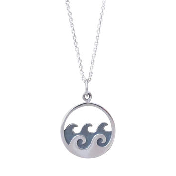 Ocean Waves Pendant Necklace