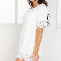 Head For Home shift dress in white Produced By SHOWPO