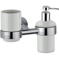 DI Hilton Wall Ceramic Toothbrush Toothpaste Holder & Soap Lotion Dispenser