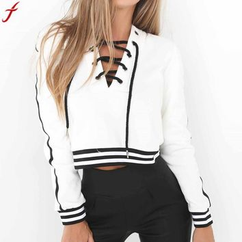 2017 Autumn Sexy Women Hoodies Sweatshirt Women's TrackSuits Long Sleeve Casual Tracksuit Pullover Tops Sudaderas Mujer