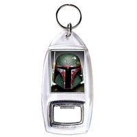 Star Wars Boba Fett clear bottle opener keychain