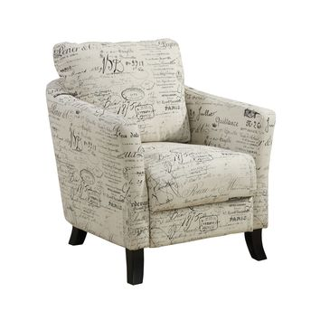 Vintage French Fabric Accent Chair
