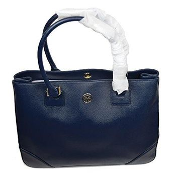 Tory Burch Saffiano Leather Tote Shoulder Bag Hudson Bay