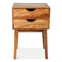 Mid-Century Two Drawer Table - Threshold™ : Target