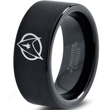 Star Trek Inspired Black Tungsten Ring