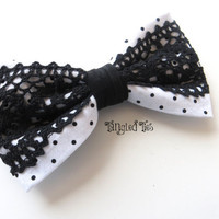 Unique Bow Tie For Women Girls  Black Lace by TangledTiesBowTies