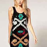 Vero Moda | Vero Moda Navajo Sequin Mini Dress at ASOS