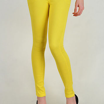 Yellow Colored Skinny Jeans