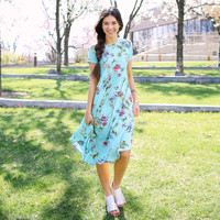 Rhea Floral Dress - Mint | Called To Surf