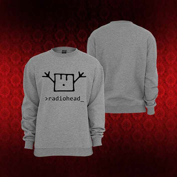 radiohead happy sweater Sweatshirt Crewneck Men or Women Unisex Size