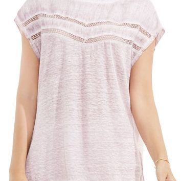 Two by Vince Camuto Crochet Lace Trim Top | Nordstrom