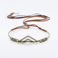Gold and Brown Suede Crown - Urban Outfitters