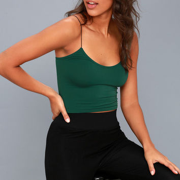 Brami Forest Green Bra Top