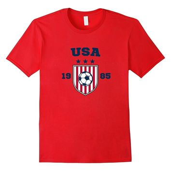 USA Soccer T-Shirt Flag Tee America Football Jersey