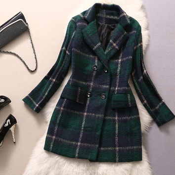 Long Jacket Wool Coat Women Winter Outwear Lapels Cashmere Coats Ladies  F_F = 1901803972