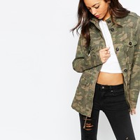New Look Camo Utility Jacket