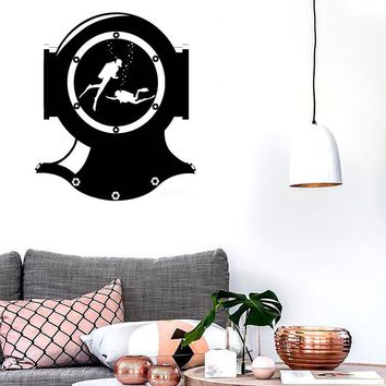Wall Stickers Vinyl Decal Scuba Diving Suit Divers Deep Ocean Decor Unique Gift (z2385)