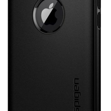 DCCK2JE Spigen Rugged Armor iPhone X Case with Resilient Shock Absorption and Carbon Fiber Design for Apple iPhone X (2017) - Matte Black