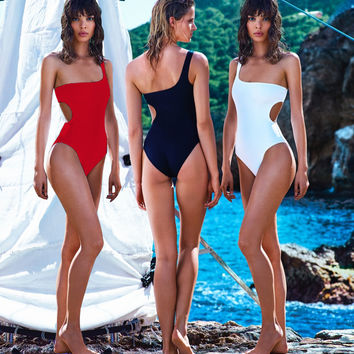 Half Strap Side Cut-Out Monokini